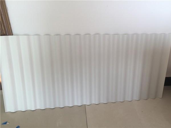 乳白色小波浪PVC瓦